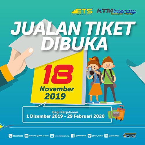 Jualan Tiket Dibuka - 18 November 2019